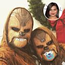 """<p>The hilarious Kaling is such a <em>Star Wars</em> fan that she <a rel=""""nofollow noopener"""" href=""""https://www.instagram.com/p/_cZzVQpQ3M/"""" target=""""_blank"""" data-ylk=""""slk:dressed as Chewbacca"""" class=""""link rapid-noclick-resp"""">dressed as Chewbacca</a> on a holiday card. However, she revealed on <em>The Tonight Show</em> that she enjoys trolling people like herself. """"What's Han Solo?"""" she said she asks. """"Who's Luke Skywalker? What's his deal? I'm so busy getting my nails done. I'm an actress."""" (Photo: Mindy Kaling via Instagram/AP) </p>"""