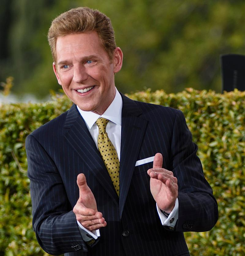 In this handout photo provided by the Church of Scientology, David Miscavige, its ecclesiastical leader, dedicates a new 95,000-square-foot church in North Hollywood, California, on March 19, 2017. (Photo: Handout via Getty Images)