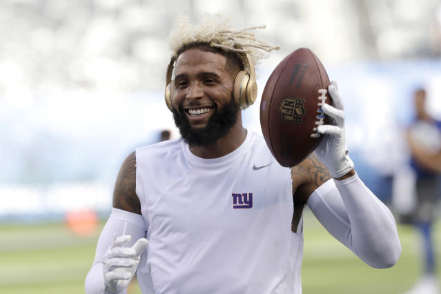 Odell Beckham Jr. is headed to Cleveland after five seasons with the Giants. (AP)