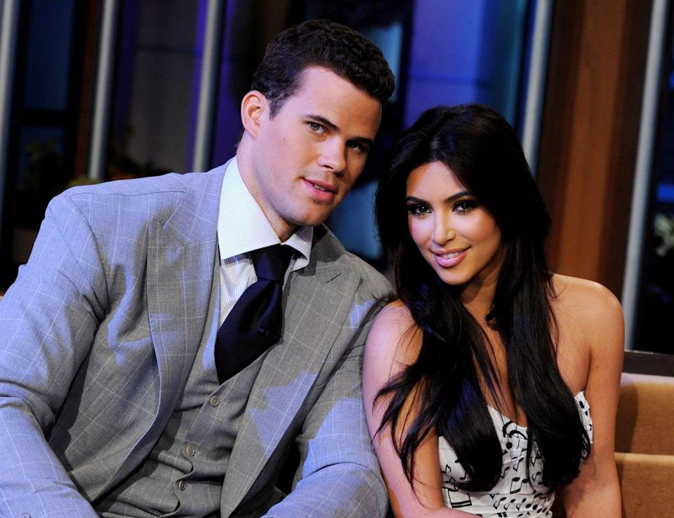 """<p>Some believed that mastermind momager, Kris Jenner, orchestrated the marriage between Kim Kardashian and Kris Humphries as a way to up the ratings on <em>Keeping Up With the Kardashians</em>. Kris Humphries, however, has denied this, writing in an essay for <em><a href=""""https://www.theplayerstribune.com/articles/kris-humphries-i-never-wanted-to-be-that-guy"""" rel=""""nofollow noopener"""" target=""""_blank"""" data-ylk=""""slk:The Player's Tribune"""" class=""""link rapid-noclick-resp"""">The Player's Tribune</a> </em>that the relationship was """"100% real.""""</p>"""