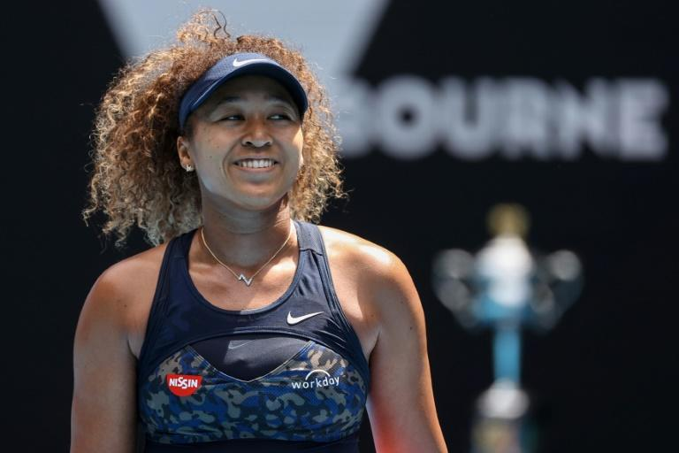 Eyes on the trophy: Naomi Osaka is all smiles on Tuesday after beating Hsieh Su-wei to reach the Australian Open semi-finals