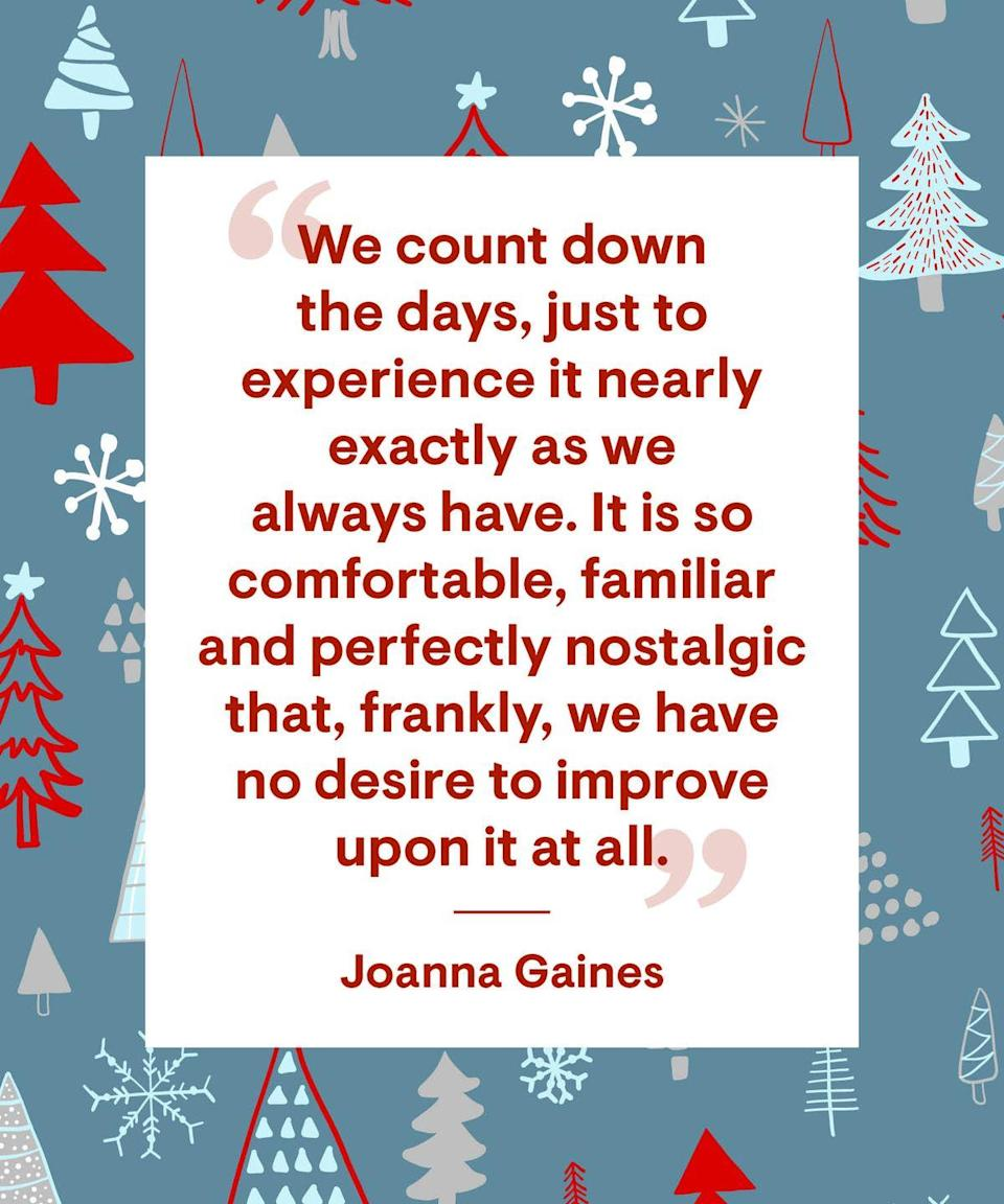 """<p>""""We count down the days, just to experience it nearly exactly as we always have. It is so comfortable, familiar and perfectly nostalgic that, frankly, we have no desire to improve upon it at all.""""</p>"""