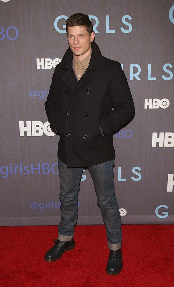 "Matt Lauria attends HBO's premiere of ""Girls"" Season 2 at the NYU Skirball Center on January 9, 2013 in New York City."