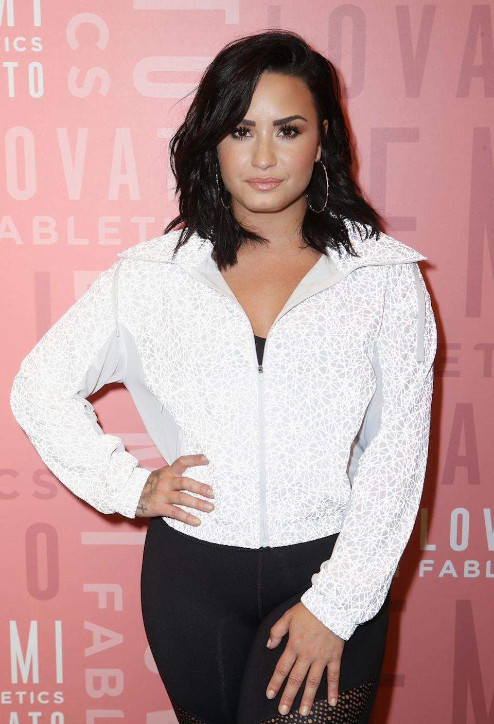 """<p><strong>Demi Lovato</strong>'s jet black cut is just about as dark as you can go. And like its polar opposite platinum blonde, it's almost always universally flattering. Ask your colorist for """"dark brunette"""" instead of """"black"""" hair to avoid a cartoonish hue.</p>"""