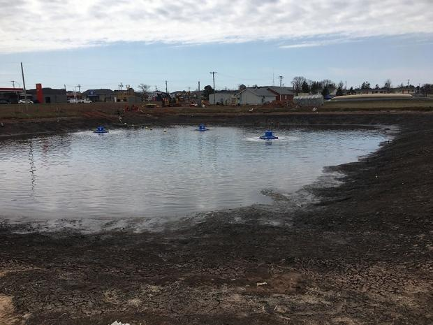 Stratford is decommissioning its lagoon after reaching a deal to pipe its sewage to Charlottetown. (Town of Stratford/Twitter - image credit)