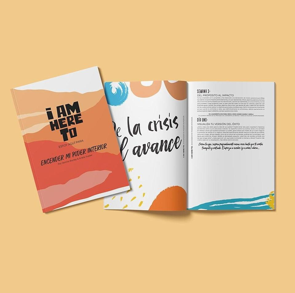 """<p>Available in Spanish and English, this four-week journal will help you break down barriers to become the best version of yourself. This self-discovery journal comes with your purchase of the <a href=""""https://iamhereto.com/collections/products/products/ignite-my-inner-power-digital-journal"""" class=""""link rapid-noclick-resp"""" rel=""""nofollow noopener"""" target=""""_blank"""" data-ylk=""""slk:I AM HERE TO Program"""">I AM HERE TO Program</a> ($50).</p>"""