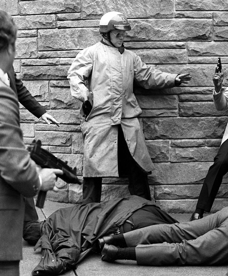 on March 30, 1981, President Reagan and three others were shot and wounded in an assassination attempt by John Hinckley, Jr. outside the Washington Hilton Hotel in Washington, D.C. Reagan's press secretary, Jim Brady, was shot in the head.