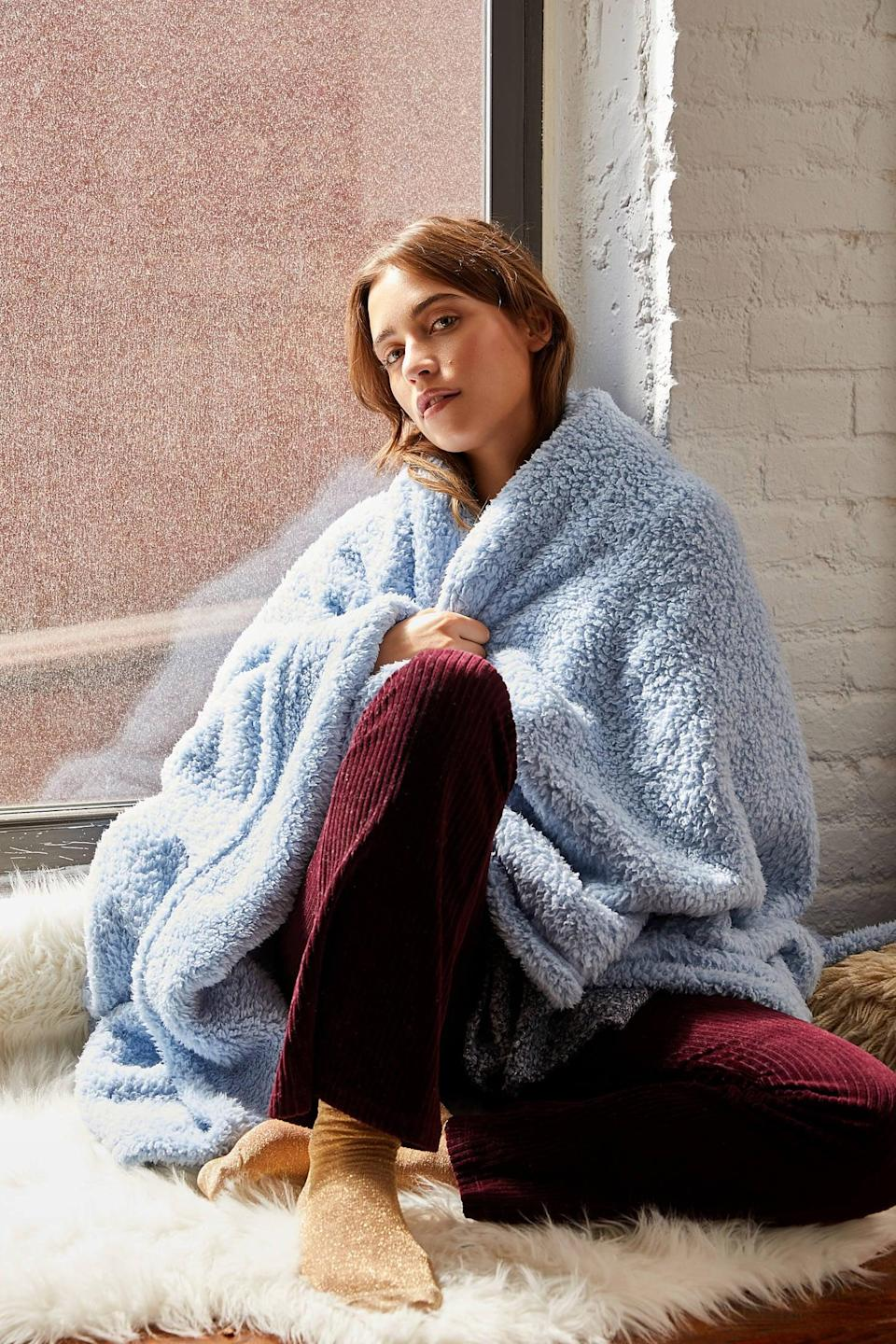"""<p>This <a href=""""https://www.popsugar.com/buy/Amped-Fleece-Throw-Blanket-560404?p_name=Amped%20Fleece%20Throw%20Blanket&retailer=urbanoutfitters.com&pid=560404&price=39&evar1=casa%3Aus&evar9=46598422&evar98=https%3A%2F%2Fwww.popsugar.com%2Fhome%2Fphoto-gallery%2F46598422%2Fimage%2F47342587%2FAmped-Fleece-Throw-Blanket&list1=shopping%2Chome%20decor%2Chome%20shopping&prop13=mobile&pdata=1"""" class=""""link rapid-noclick-resp"""" rel=""""nofollow noopener"""" target=""""_blank"""" data-ylk=""""slk:Amped Fleece Throw Blanket"""">Amped Fleece Throw Blanket</a> ($39, originally $49) comes in so many fun colors.</p>"""