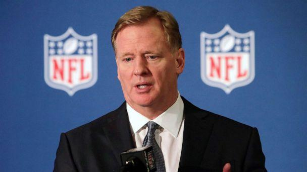 PHOTO: FILE - In this Dec. 12, 2018, file photo, NFL commissioner Roger Goodell speaks during a news conference in Irving, Texas. (Lm Otero/AP)