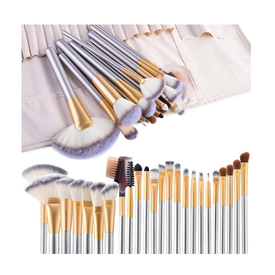 "<p><strong>Star Rating:</strong> 4.5 out of 5</p> <p><strong>Key selling points:</strong> This lilac brush set covers all sizes and shapes needed to contour and sculpt the face for flawless dimension, making it an ideal tool for budding makeup artists.</p> <p><strong>What customers say:</strong> ""I had to replace my entire brush collection when it was stolen while on vacation, and I was honestly shocked at how good these brushes are. They blend like an absolute dream, are super easy to use, pick up a good amount of product, are very soft on the face, and feel great in my hand. Honestly, I'm so in love with these brushes."" —<a href=""https://amzn.to/3c3r1hf"" rel=""nofollow noopener"" target=""_blank"" data-ylk=""slk:Nicole"" class=""link rapid-noclick-resp""><em>Nicole</em></a></p> $13, Amazon. <a href=""https://www.amazon.com/VANDER-LIFE-Foundation-Concealer-Cruelty-Free/dp/B076C6V8Q4/ref=sr_1_1_sspa"" rel=""nofollow noopener"" target=""_blank"" data-ylk=""slk:Get it now!"" class=""link rapid-noclick-resp"">Get it now!</a>"
