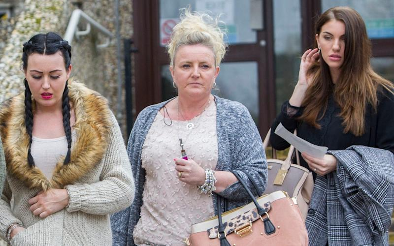 Charlotte White, Teresa Weir and Nikki Elliott, who condemned Whiting in a victim impact statement - Credit: David McHugh