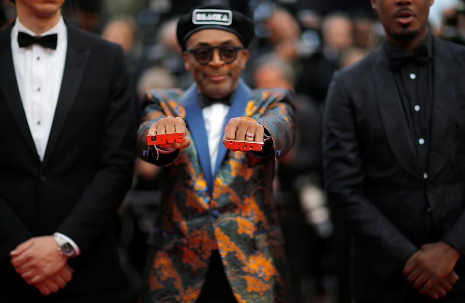 "71st Cannes Film Festival - Screening of the film ""BlacKkKlansman"" in competition - Red Carpet Arrivals - Cannes, France May 14, 2018 - director Spike Lee presents his jewelry arrives. REUTERS/Stephane Mahe     TPX IMAGES OF THE DAY"