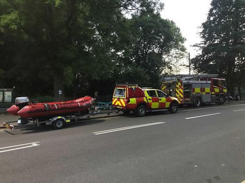 Rescue teams at Crookes Valley Park in Sheffield, where a body was recovered from the water. (Reach)