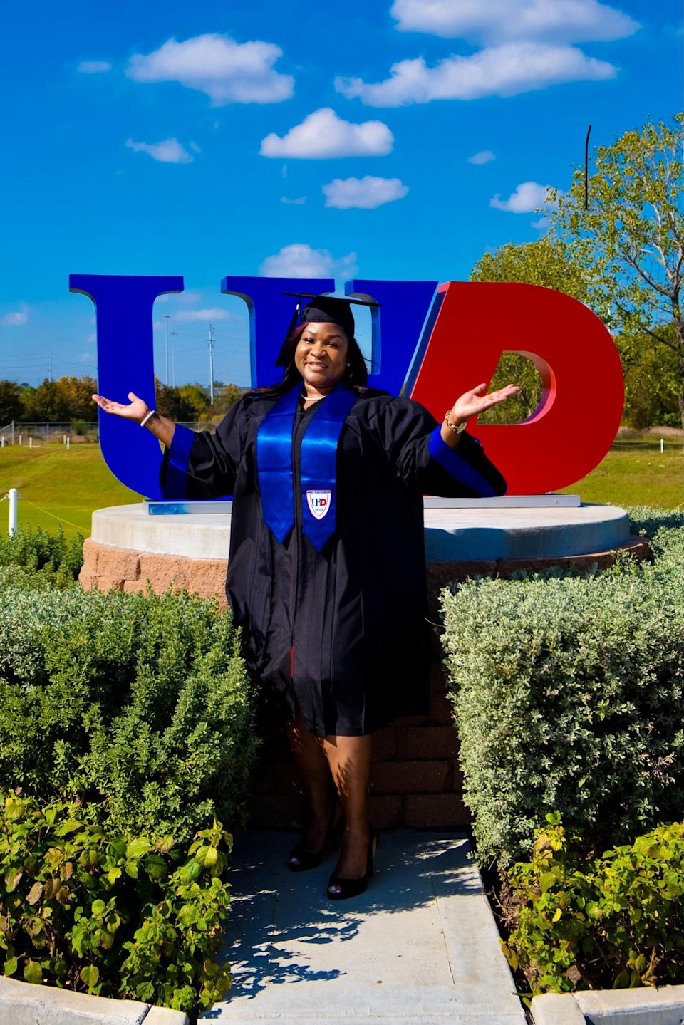 Gray accomplished her goal of getting her bachelor's degree at UHD. (Photo courtesy of Anthony Taylor)