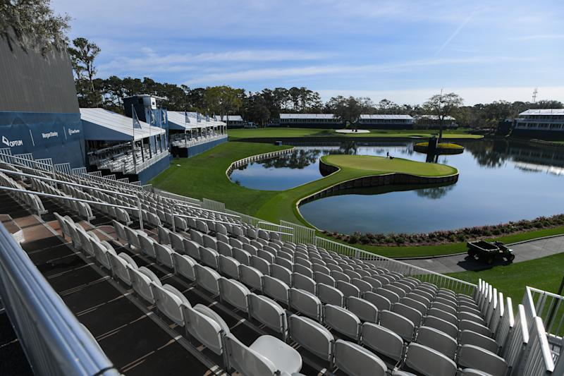 Everything stopped at The Players, and everywhere else. (Photo by Ben Jared/PGA TOUR via Getty Images)