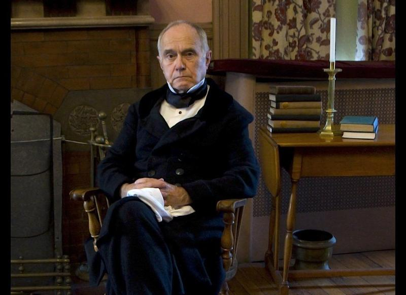"""Cooke also does shows as John Quincy Adams, who he says is a powerful example of what a man can do at the end of life if he is driven to do something. Adams died in 1848 after having a cerebral hemmorhage while raising an objection in the House of Representatives and Cooke admits that appeals to him. """"I'd quite like to keel over and make my final exit in performance much as he did in Congress -- I'm not in any hurry!"""""""