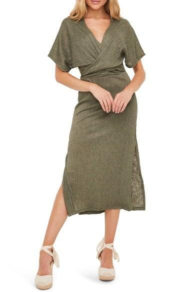 <p>This <span>All in Favor Phoebe V-Neck Midi Dress</span> ($20, originally $49) also comes in black and pink.</p>