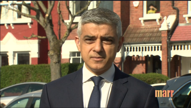 Sadiq Khan urged Londoners to follow government advice - and did not rule out the use of enforcement powers in the capital (BBC)