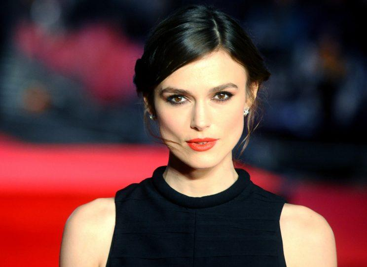 Keira Knightley on the red carpet (Photo: Anthony Harvey/Getty Images)