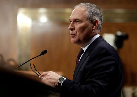 File photo of Oklahoma Attorney General Scott Pruitt testifying on his nomination to be administrator of the Environmental Protection Agency in Washington.