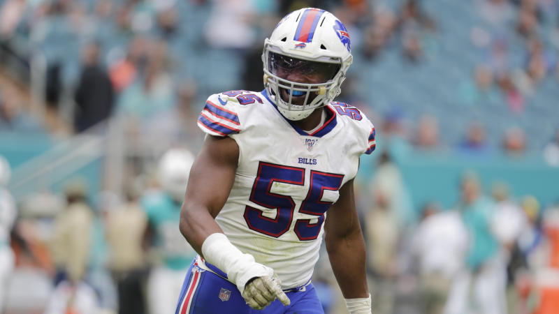 The Buffalo Bills may have violated the NFL's injury-reporting policy regarding Jerry Hughes. (AP Photo/Lynne Sladky)