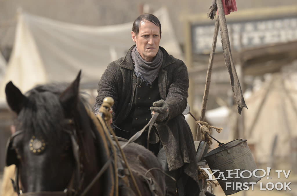 The Swede (Christopher Heyerdahl) - Hell On Wheels - Season 2, Episode 1 - Photo Credit: Chris Large/AMC