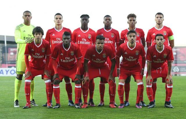 <em>Time sub-19 do Benfica perdeu a final da Uefa Youth League 2016/2017. Foto: Getty Images</em>