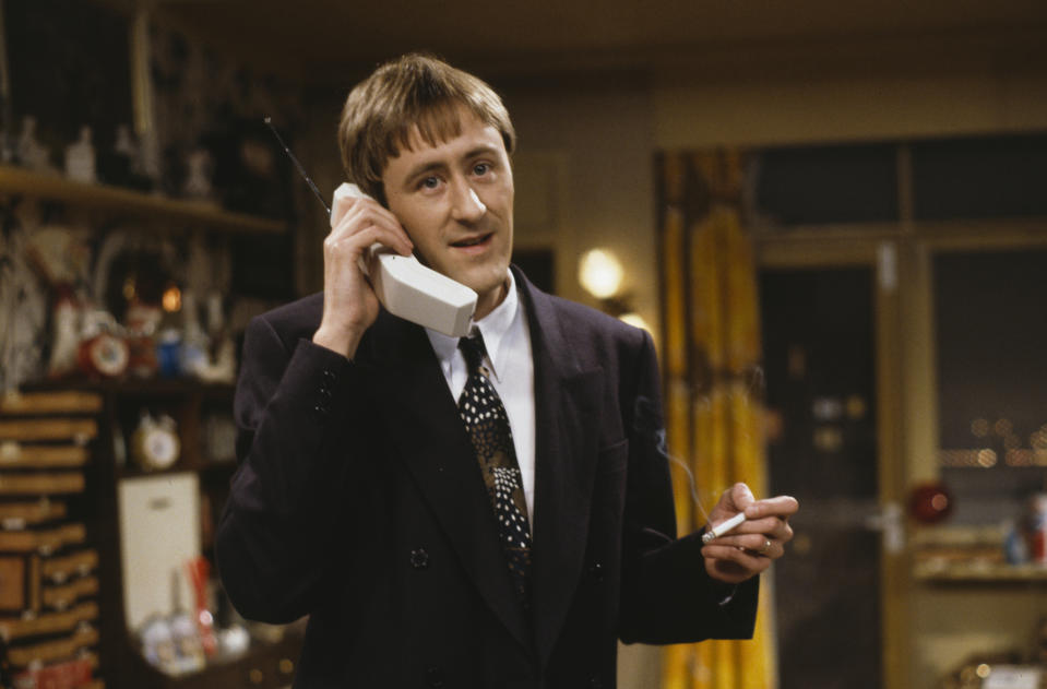 Actor Nicholas Lyndhurst in a scene from episode 'The Chance of a Lunchtime' of the television sitcom 'Only Fools and Horses', December 2nd 1990. (Photo by Don Smith/Radio Times/Getty Images)