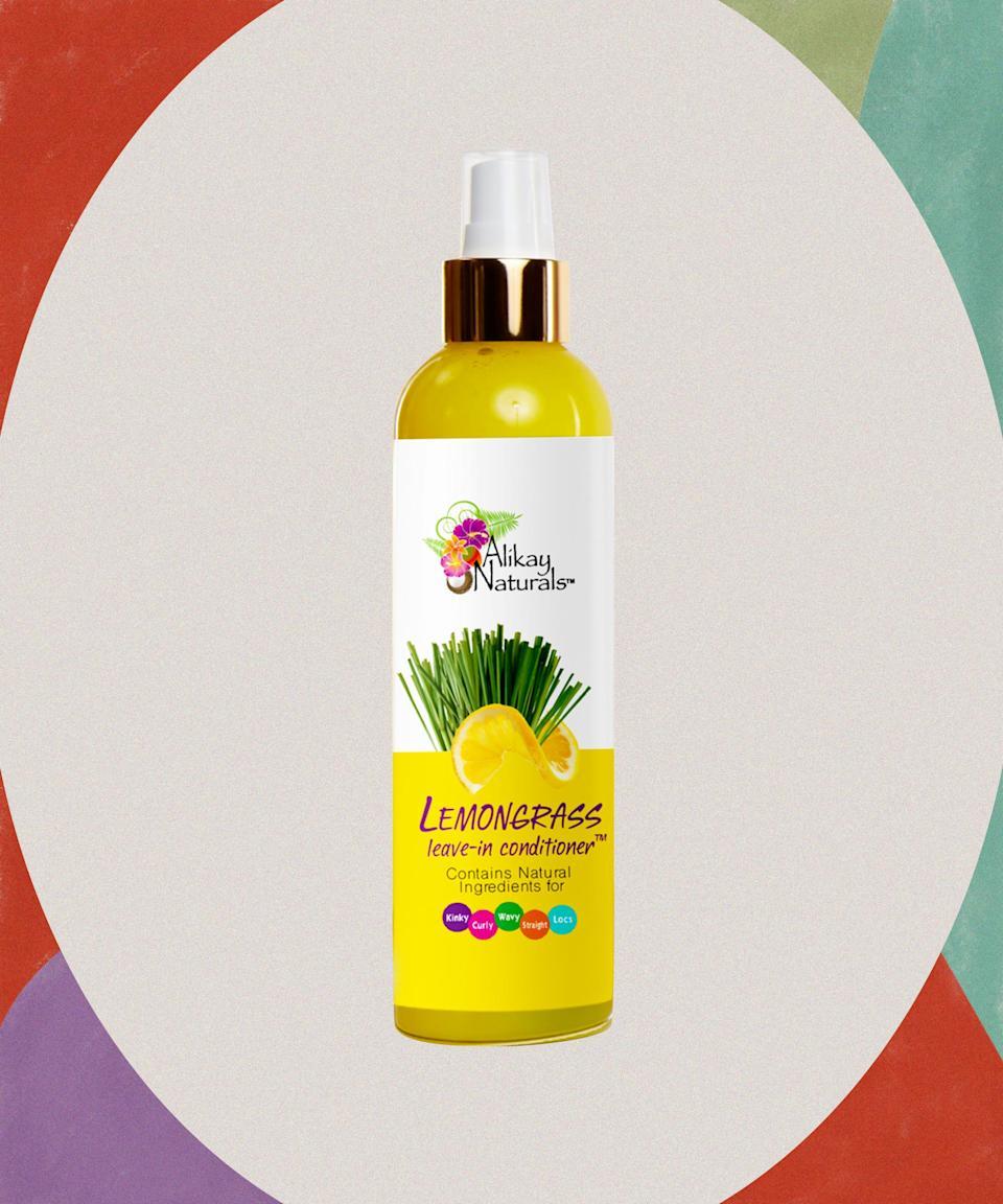 """For a long-lasting twist-out that can go from WFH to (socially distanced) cocktails on the street with friends.<br><br><strong>Alikay Naturals</strong> Lemongrass Leave-in Conditioner, $, available at <a href=""""https://go.skimresources.com/?id=30283X879131&url=https%3A%2F%2Fwww.target.com%2Fp%2Falikay-naturals-lemongrass-leave-in-conditioner-8-fl-oz%2F-%2FA-15114758"""" rel=""""nofollow noopener"""" target=""""_blank"""" data-ylk=""""slk:Target"""" class=""""link rapid-noclick-resp"""">Target</a>"""