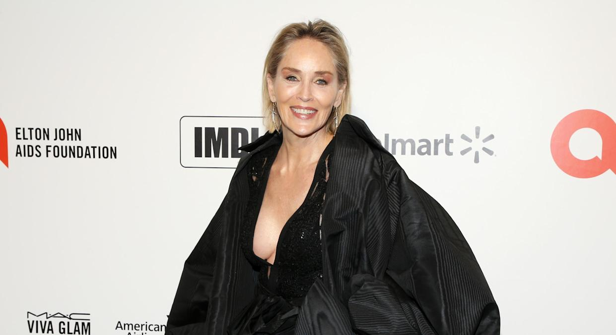 Sharon Stone posted the sunny picture to Instagram. (Getty Images)