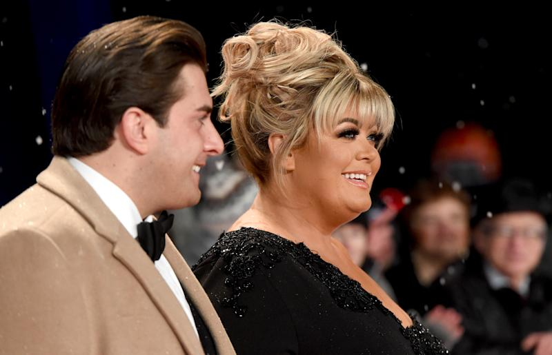 James Argent and Gemma Collins attends the National Television Awards held at the O2 Arena on January 22, 2019 in London, England. (Photo by Stuart C. Wilson/Getty Images)