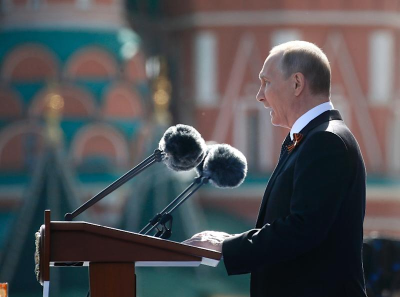 Russia's Putin Hits Out At US In Red Square Parade Speech