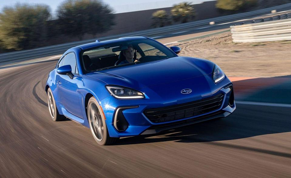 <p>All-new for the 2022 model year, Subaru's rear-drive 2+2 sports car still isn't turbocharged but it is more powerful and it's much better looking. More importantly, it's still available with a stick. Subaru has replaced the BRZ's current 205-hp 2.0-liter flat four with its 228-hp 2.4-liter of the same configuration. Both a six-speed manual and a six-speed automatic will be offered.</p>