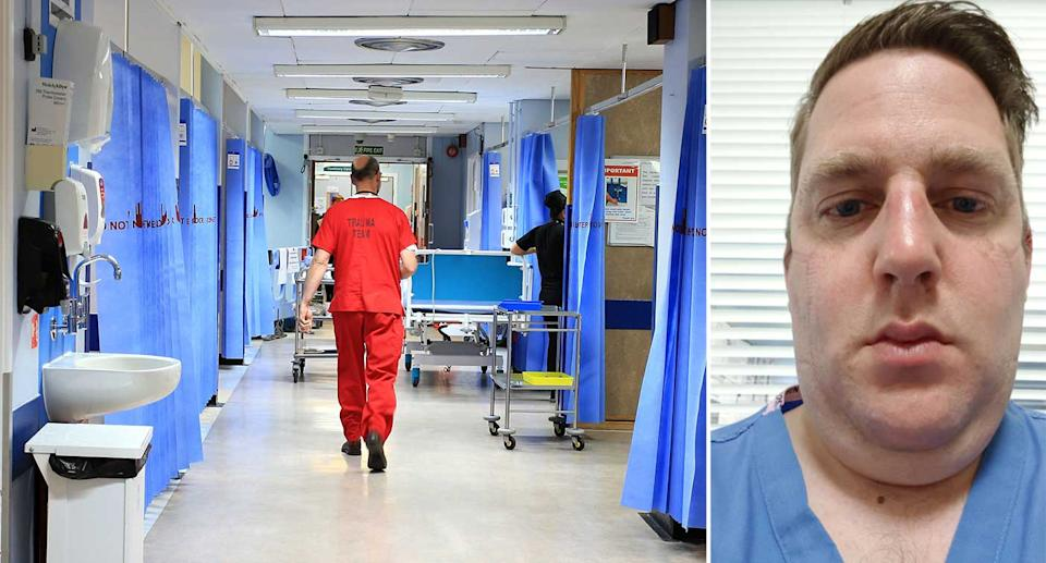 Frontline NHS workers, such as Matt Smith, have described the challenges that the pandemic has brought. (PA)