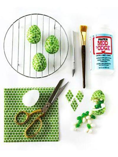 "<p>Choose any napkin pattern that catches your eye to add an extra little personal touch to your Easter egg decorating with these colorful designs.</p><p><em><a href=""https://www.womansday.com/home/crafts-projects/how-to/a5530/easter-craft-how-to-paper-napkin-covered-eggs-116416/"" rel=""nofollow noopener"" target=""_blank"" data-ylk=""slk:Get the Paper Napkin-Covered Eggs tutorial."" class=""link rapid-noclick-resp"">Get the Paper Napkin-Covered Eggs tutorial.</a></em></p>"