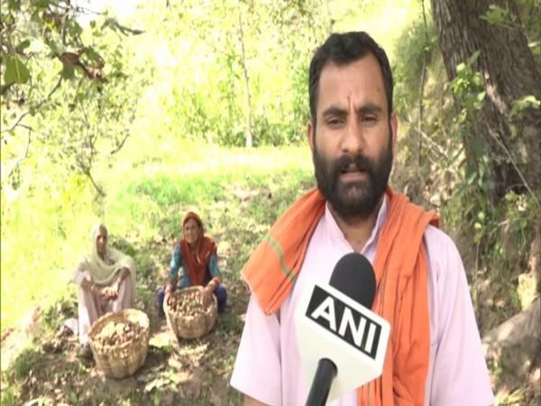 Dilbir Singh, a farmer from Upper Meer area of Udhampur district speaking to ANI. (Photo/ANI)