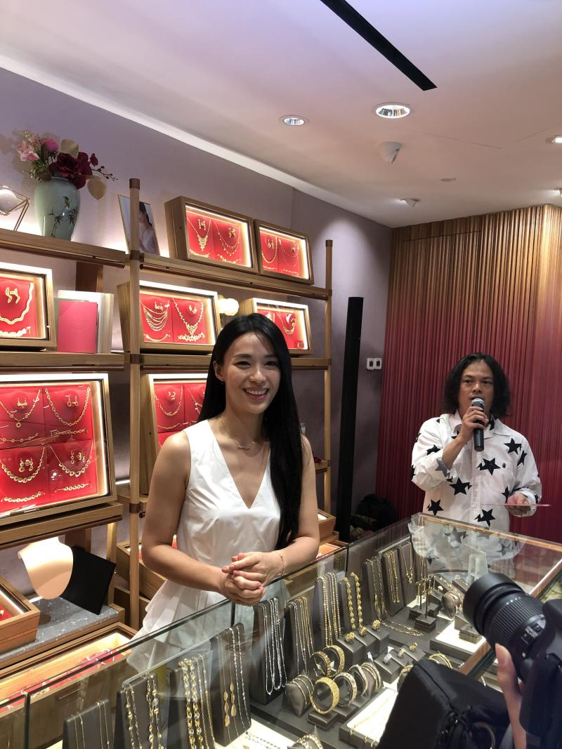 Rebecca Lim at Goldheart opening. (PHOTO: Sheila Chiang/Yahoo Lifestyle Singapore)