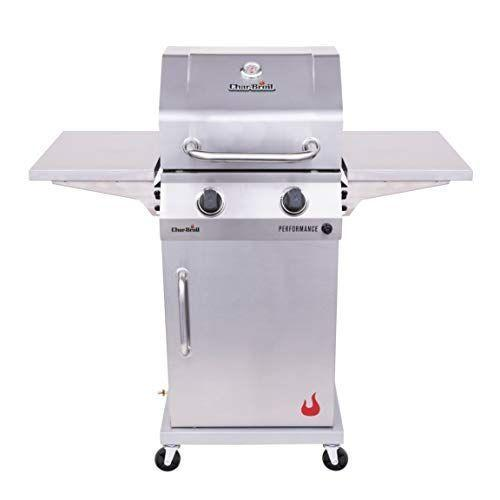 """<p><strong>Char-Broil</strong></p><p>amazon.com</p><p><strong>$259.35</strong></p><p><a href=""""https://www.amazon.com/dp/B08HJQG5GQ?tag=syn-yahoo-20&ascsubtag=%5Bartid%7C10072.g.36728116%5Bsrc%7Cyahoo-us"""" rel=""""nofollow noopener"""" target=""""_blank"""" data-ylk=""""slk:Shop Now"""" class=""""link rapid-noclick-resp"""">Shop Now</a></p><p>Here's a space-saving option. It has side shelves that fold down, and the cabinet design allows for storage space. Plus, there's a warming rack for sides and buns.</p>"""