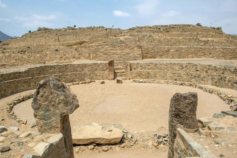 An amphitheater at the Caral archeological site in Peru