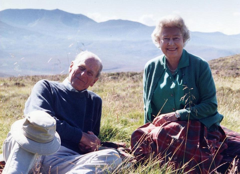 Personal photograph of the Queen and the Duke of Edinburgh released to the media by Sophie