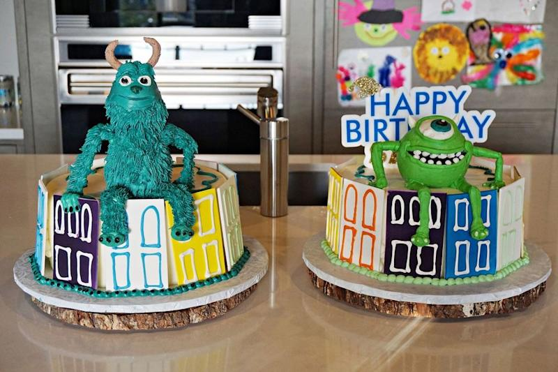 Saint West and Reign Disick's birthday cakes in 2017 | Courtesy Kim Kardashian West