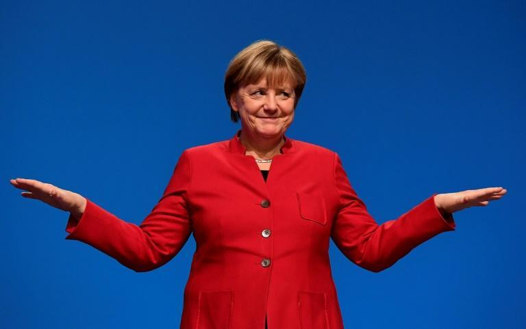Merkel recently admitted she was 'shy' about the feminist label (AFP/TOBIAS SCHWARZ)