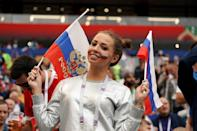 <p>A Russian fan during the 2018 FIFA World Cup Russia group A match between Russia and Saudi Arabia at Luzhniki Stadium on June 14, 2018 in Moscow, Russia. (Photo by Allsport Co./Getty Images) </p>