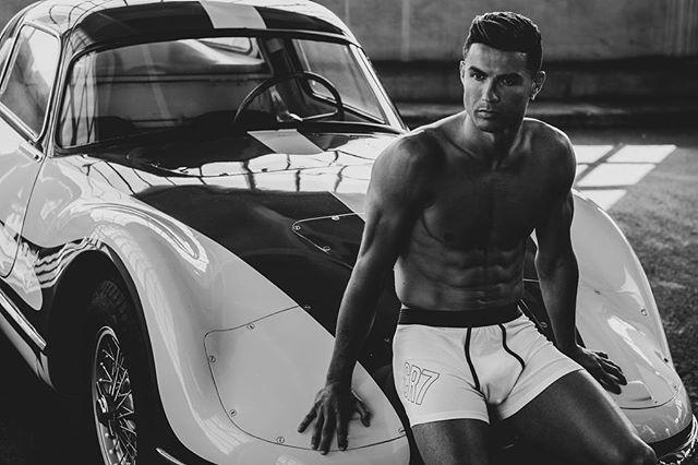 """<p>In yet another black-and-white snapshot, Ronaldo shows off a vintage car and his muscles all while promoting his underwear line. What a multitasker!</p><p><a href=""""https://www.instagram.com/p/B0ysVYAgGrL/"""" rel=""""nofollow noopener"""" target=""""_blank"""" data-ylk=""""slk:See the original post on Instagram"""" class=""""link rapid-noclick-resp"""">See the original post on Instagram</a></p>"""