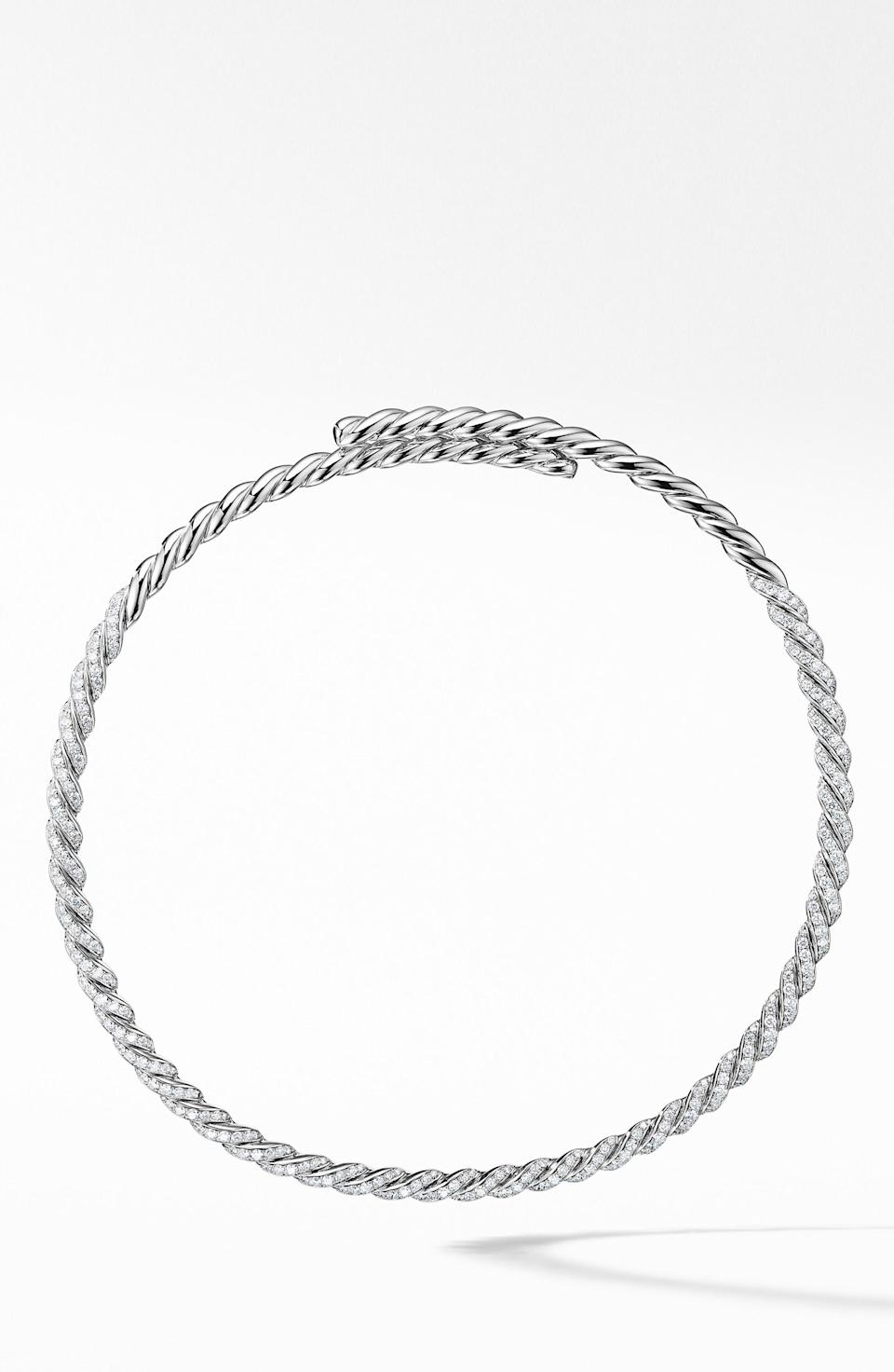 """<p><strong>DAVID YURMAN</strong></p><p>nordstrom.com</p><p><strong>$22000.00</strong></p><p><a href=""""https://go.redirectingat.com?id=74968X1596630&url=https%3A%2F%2Fshop.nordstrom.com%2Fs%2Fdavid-yurman-pave-flexible-18k-gold-necklace-with-diamonds%2F5030350&sref=https%3A%2F%2Fwww.townandcountrymag.com%2Fstyle%2Fjewelry-and-watches%2Fg37368162%2Ffine-jewelry-brands-at-nordstrom%2F"""" rel=""""nofollow noopener"""" target=""""_blank"""" data-ylk=""""slk:Shop Now"""" class=""""link rapid-noclick-resp"""">Shop Now</a></p><p>The iconic New York jeweler is known for its signature design: the cable, which is woven through all of Yurman collections.</p>"""
