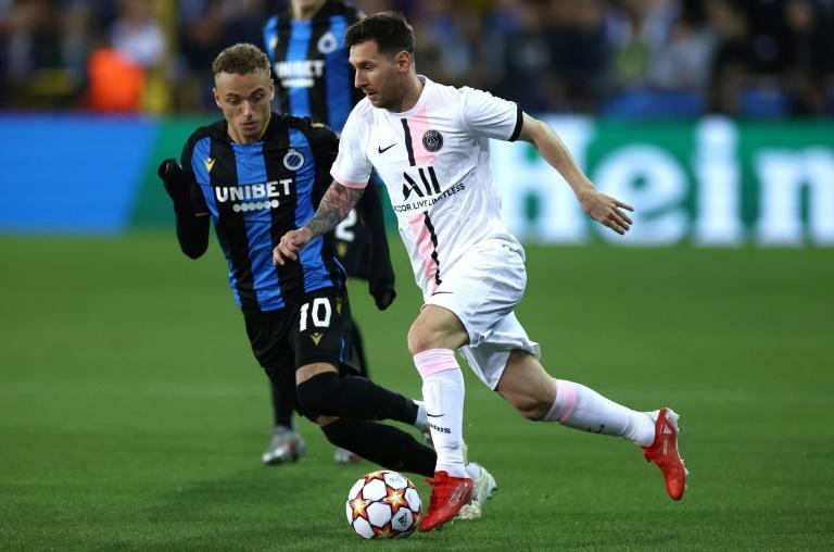 Lionel Messi and PSG were held in check by Club Brugge (AFP/KENZO TRIBOUILLARD)
