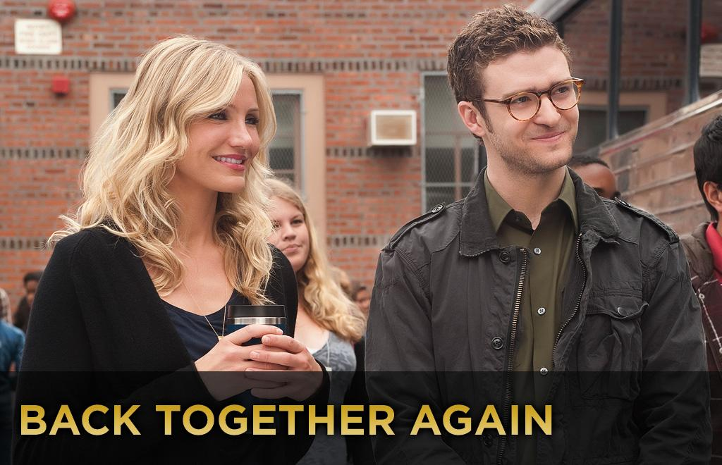 """Cameron Diaz stars opposite Justin Timberlake in this weekend's foul-mouthed comedy """"<a href=""""http://movies.yahoo.com/movie/1810150690/info"""">Bad Teacher</a>."""" For those of you who don't follow such things, Diaz and former teen heartthrob Timberlake were a couple for four years, but the romance didn't end well. Justin started dating Jessica Biel almost immediately after their breakup, resulting in a reported <a href=""""http://www.people.com/people/article/0,,20008720,00.html"""">spat</a> at a 2007 Golden Globes after-party.    Yet that seems to be water under the bridge.    """"We're adults,"""" Cameron Diaz said in an <a href=""""http://www.usmagazine.com/celebritynews/news/cameron-diaz-comes-clean-about-alex-rodriguez-2010156"""">interview</a>. """"Of course, we could work together. It's been three years since we broke up. It's all done ... We're friends.""""    Of course, that doesn't mean that working together wasn't occasionally awkward.    Director Jake Kasdan described shooting the love scene between the two as the """"most uncomfortable sex scene in history"""" to <a href=""""http://www.people.com/people/article/0,,20504178,00.html"""">People</a> Magazine.    Diaz concurred. """"Yes. It was just [an] absurdity... for all of us involved.""""    Click ahead to see other stars who worked on-screen with their exes."""