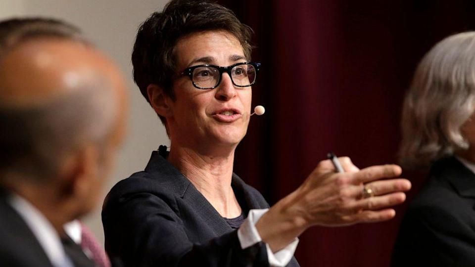 <p>Maddow returned to the air on Thursday following a two-week week absence</p> (AP/Steven Senne)