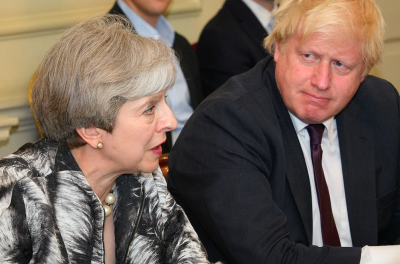 Mrs May has previously tried to block Boris Johnson as taking over as leader (Getty)