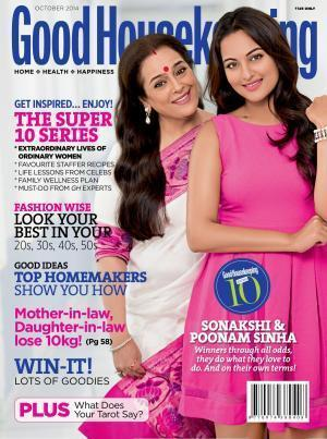 "<p>Poonam and Sonakshi Sinha colour co-ordinated for the cover of Good Housekeeping. While Sonakshi wore a pretty pink dress, mommy Poonam sported an elegant pink saree. The cover reads, ""Sonakshi & Poonam Sinha – Winners through all odds, they do what they love to do. And on their own terms!"". Well I totally agree with it.<br /></p>"